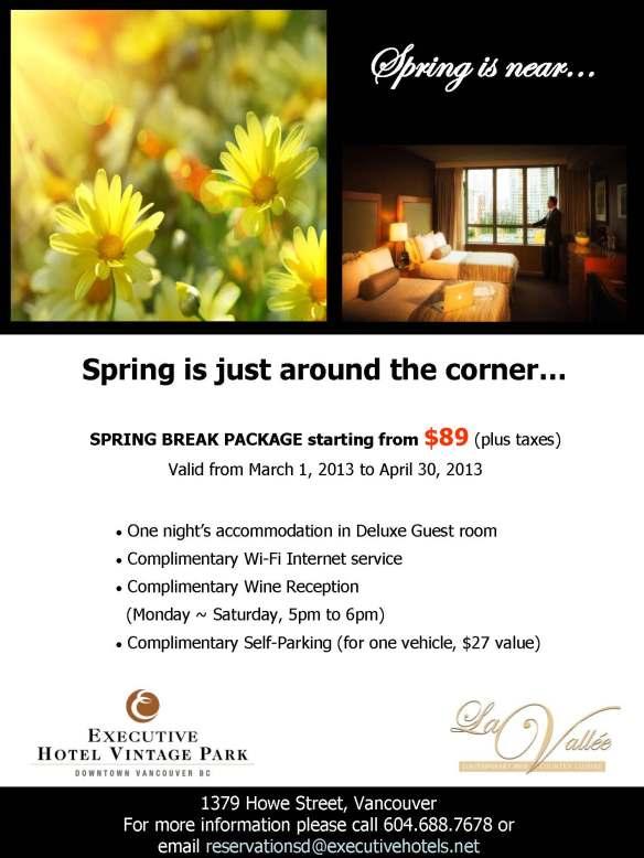Spring break package_vin