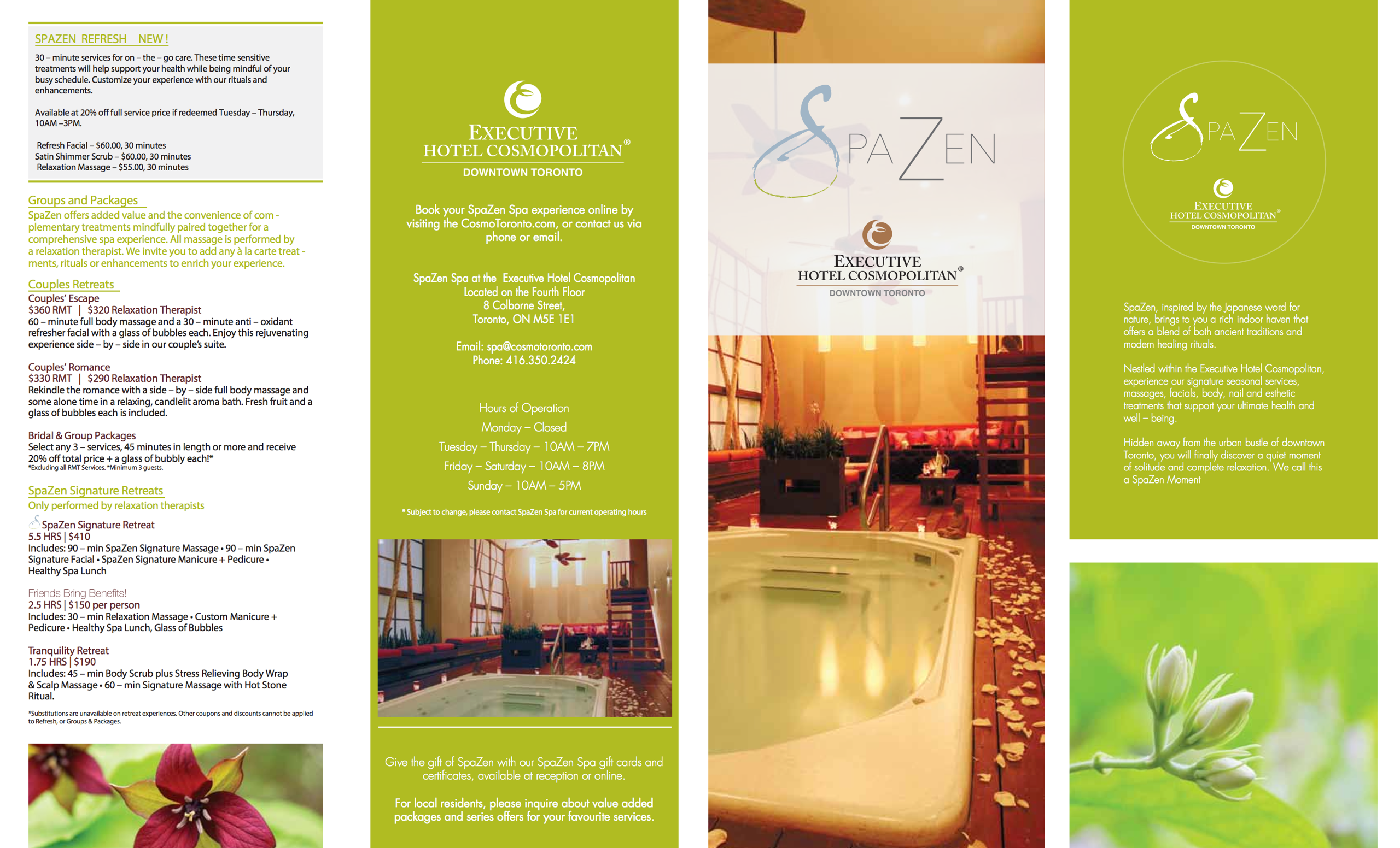 executive hotel cosmopolitan toronto internal spazen brochure - Yellow Hotel 2015